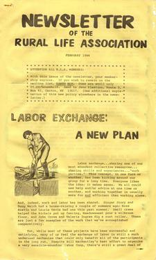 Newsletter of the Rural Life Association; February 1984