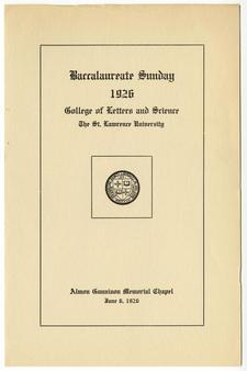 Chapel opens June 6, 1926