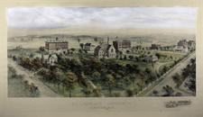 1909 Lithograph of campus
