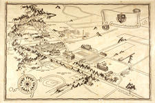 Map of campus in 1930s