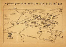 "Hand drawn Campus Guide--""The Hill"""