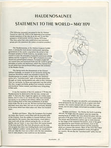 Haudenosaunee Statement to the World: May 1979