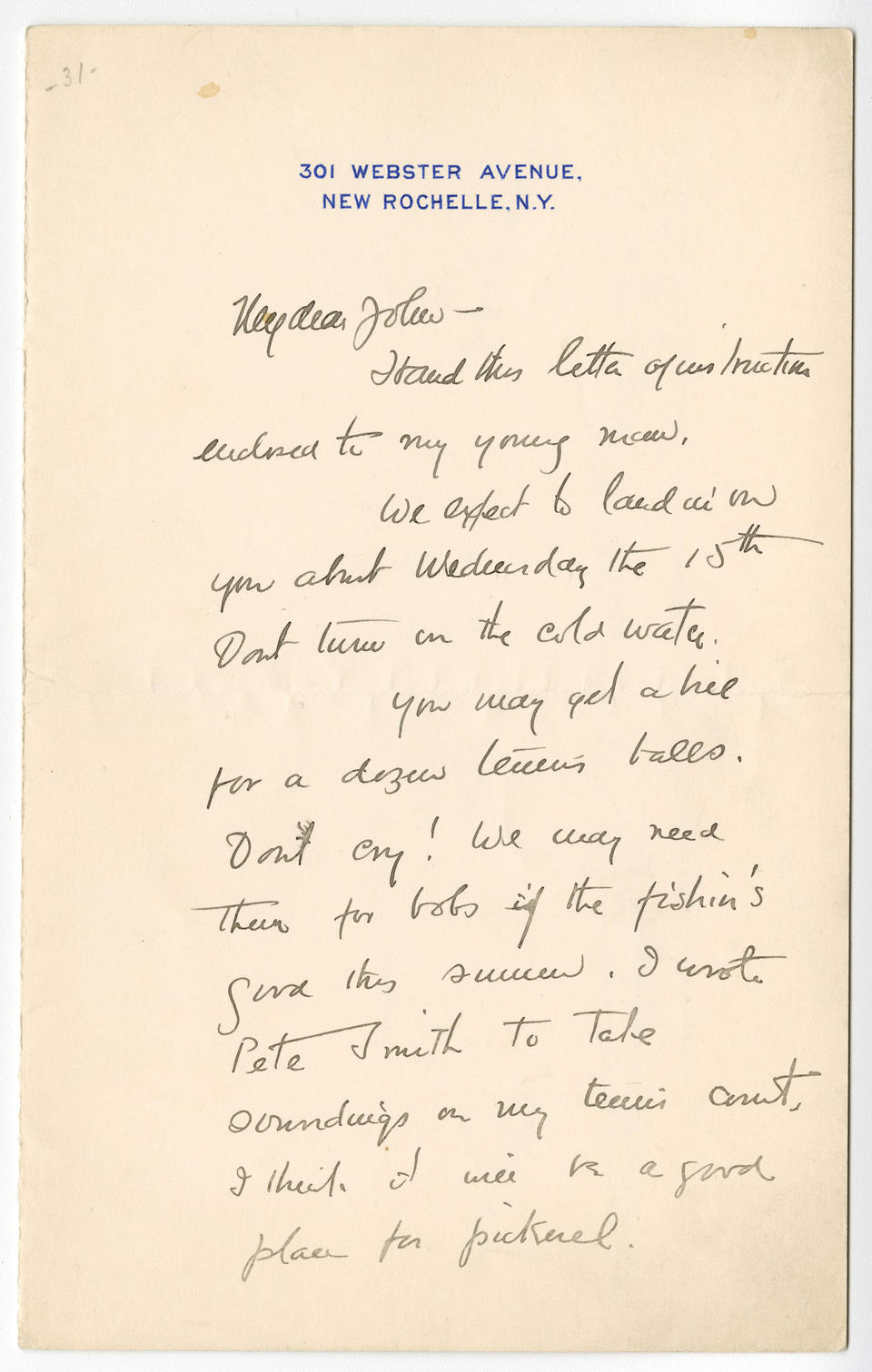 Frederic Remington Collection My dear John Hand this letter of